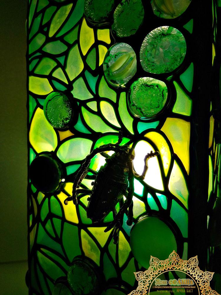жук зелень лето лампа