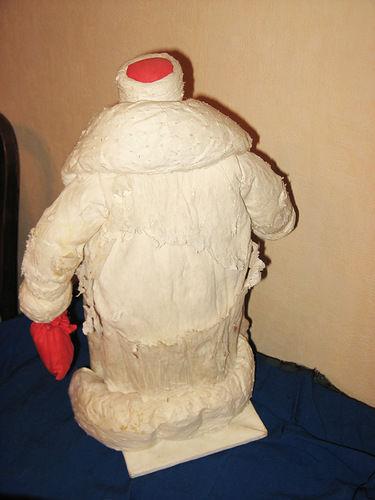 реставрация ватной, ватный дедуля, реставрация советского, мороз папье маше