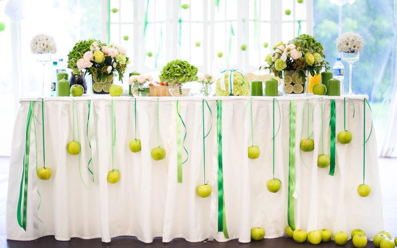 Декор на яблочную свадьбу