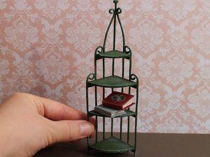 Видео мастер-класс: изготовление миниатюрного стеллажа. Ярмарка Мастеров - ручная работа, handmade.
