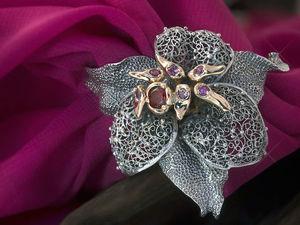 Создаем украшение-лилию. Часть вторая, заключительная: работа с металлом. Ярмарка Мастеров - ручная работа, handmade.