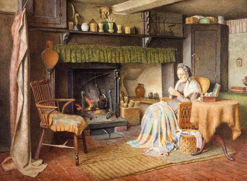 Когда есть чем заняться — стареть некогда: душевные картины о бабушках-рукодельницах, фото № 27