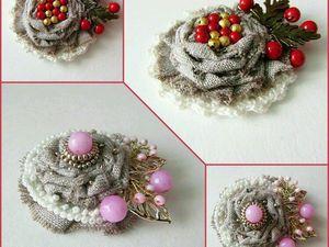 Скоро новые броши бохо из льна от Olga Gardenia   Ярмарка Мастеров - ручная работа, handmade