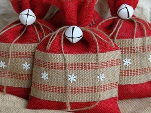 Новогодний мешочек — идеи для упаковки подарка. Ярмарка Мастеров - ручная работа, handmade.