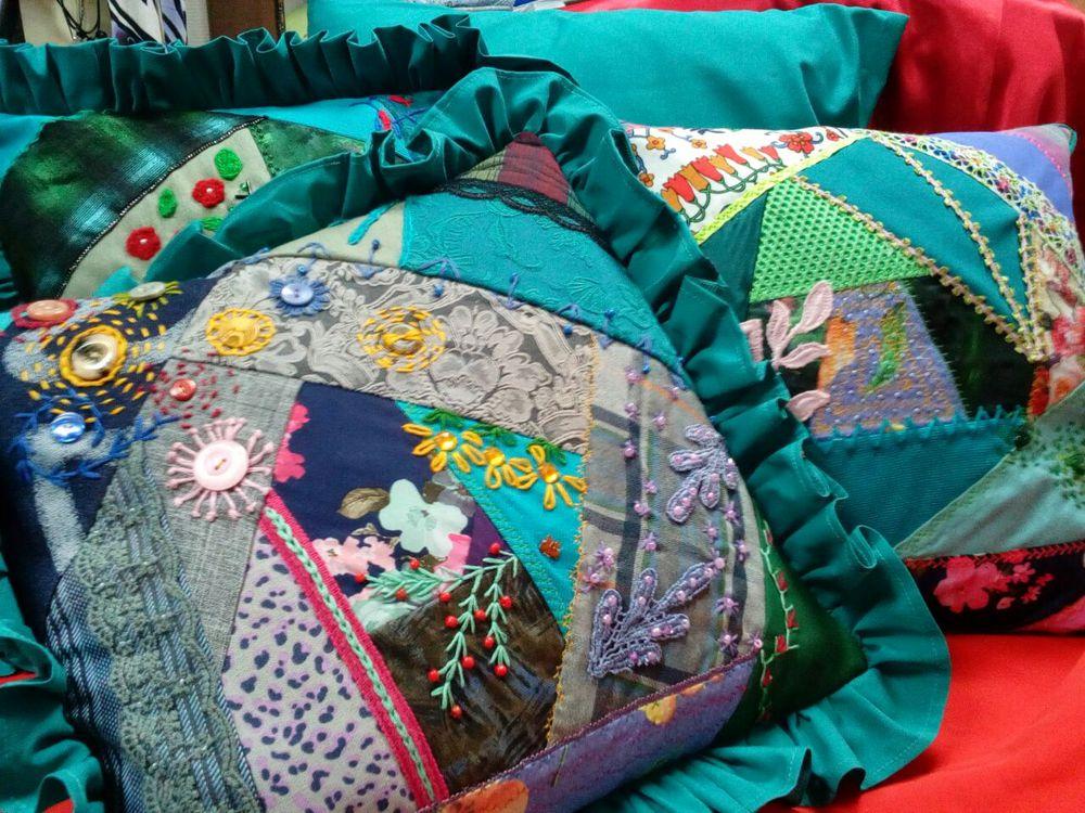 печворк, диванная подушка