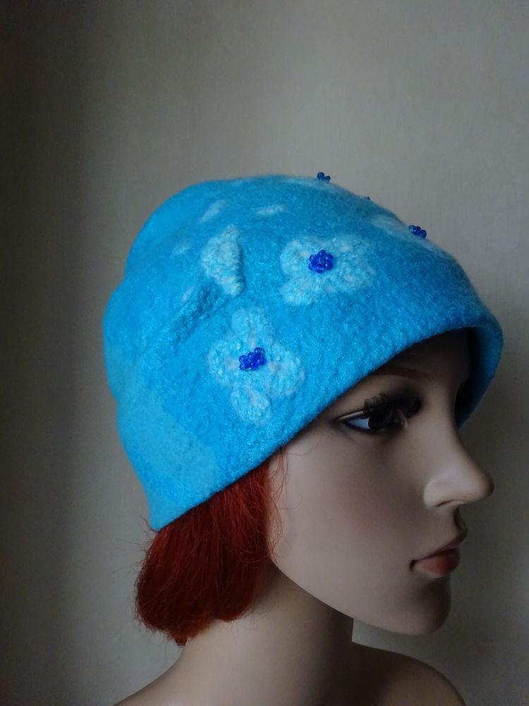 валяные шапки, красивая шапка