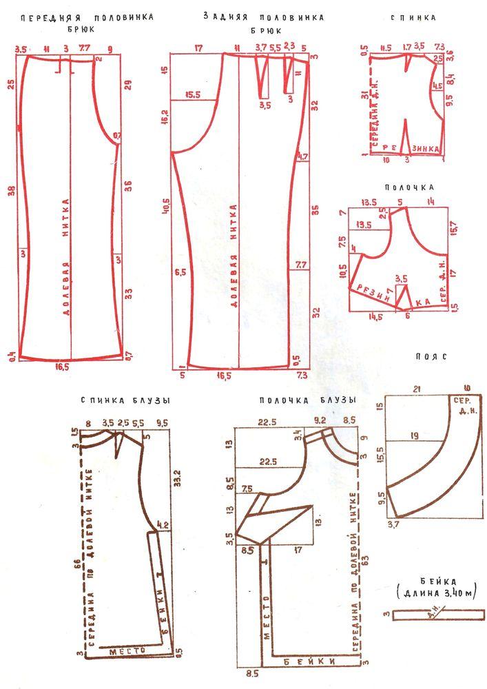 Выкройки из журнала «50 моделей ГУМа» 1972 года. Часть 1, фото № 9