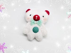 Шьём миниатюрного белого мишку. Ярмарка Мастеров - ручная работа, handmade.