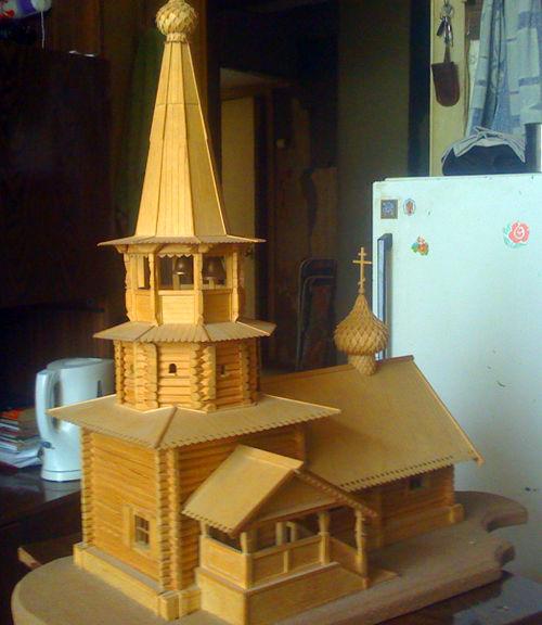 Церковь деревянная макет своими руками