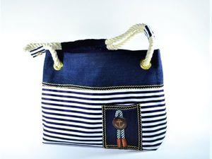Шьем летнюю сумку в морском стиле | Ярмарка Мастеров - ручная работа, handmade