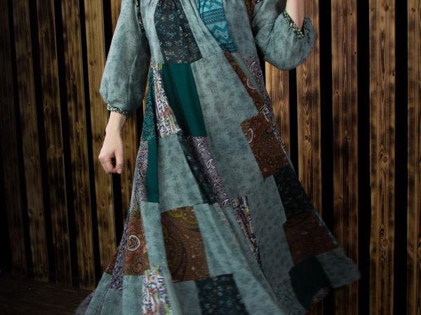 Пэчворк-платье   Ярмарка Мастеров - ручная работа, handmade