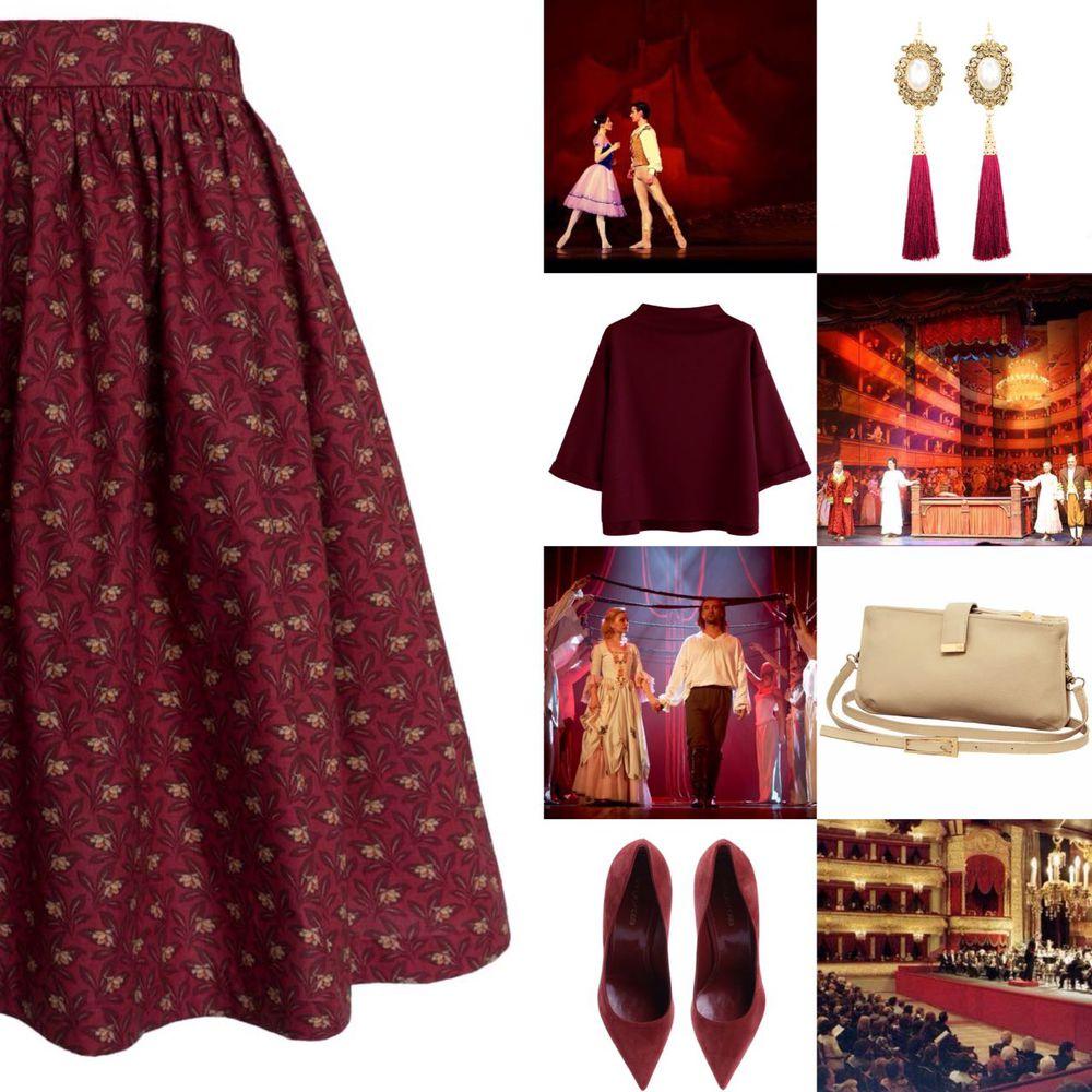 бордо, яркая юбка, юбка миди, юбка с карманами, театр, балет