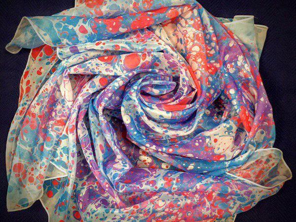 Эбру на ткани | Ярмарка Мастеров - ручная работа, handmade