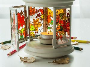 Аукцион на витражный фонарик-подсвечник