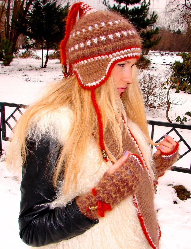 шарф зимние шерсть