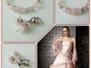 Анонс! Новый комплект с розовым кварцем от Olga Gardenia. Ярмарка Мастеров - ручная работа, handmade.