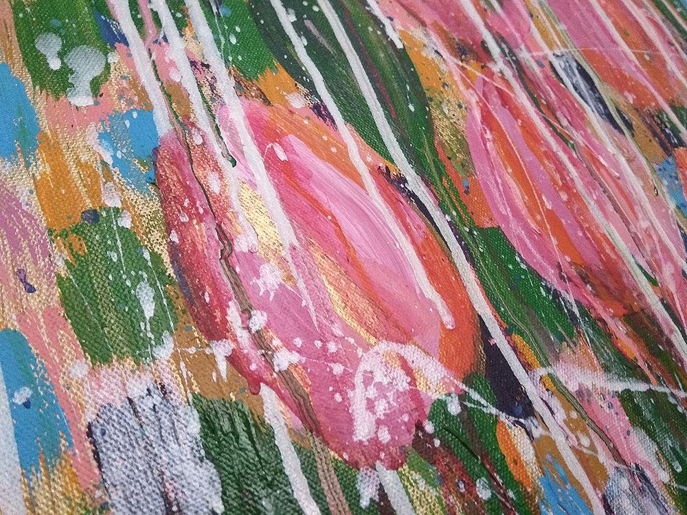 купить картину, абстракция цветы