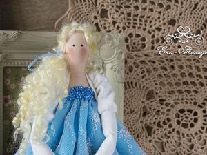 Куколка в бежево-голубом. Ярмарка Мастеров - ручная работа, handmade.