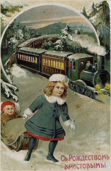 Старинные рождественские открытки: 35 трогательных изображений, фото № 30