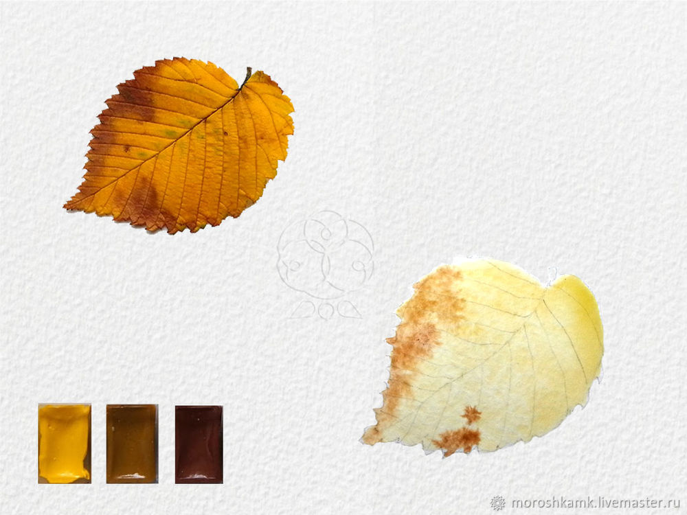 Drawing an Autumn Leaf with Watercolours, фото № 6