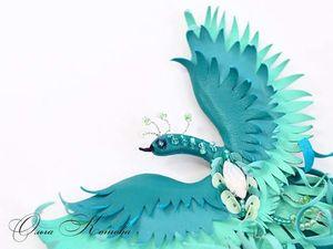 Завтра новинка в магазине Брошь птичка в бирюзово мятных оттенках. Ярмарка Мастеров - ручная работа, handmade.