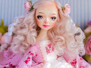 Кристен  авторская, интерьерная кукла, будуарная кукла, декор дома, подарок любимой, подарок на день рождения, текстильная кукла. Ярмарка Мастеров - ручная работа, handmade.