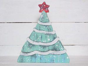 Новогодний пазл-пирамидка «Елочка» теперь в 2х вариантах расцветки!. Ярмарка Мастеров - ручная работа, handmade.