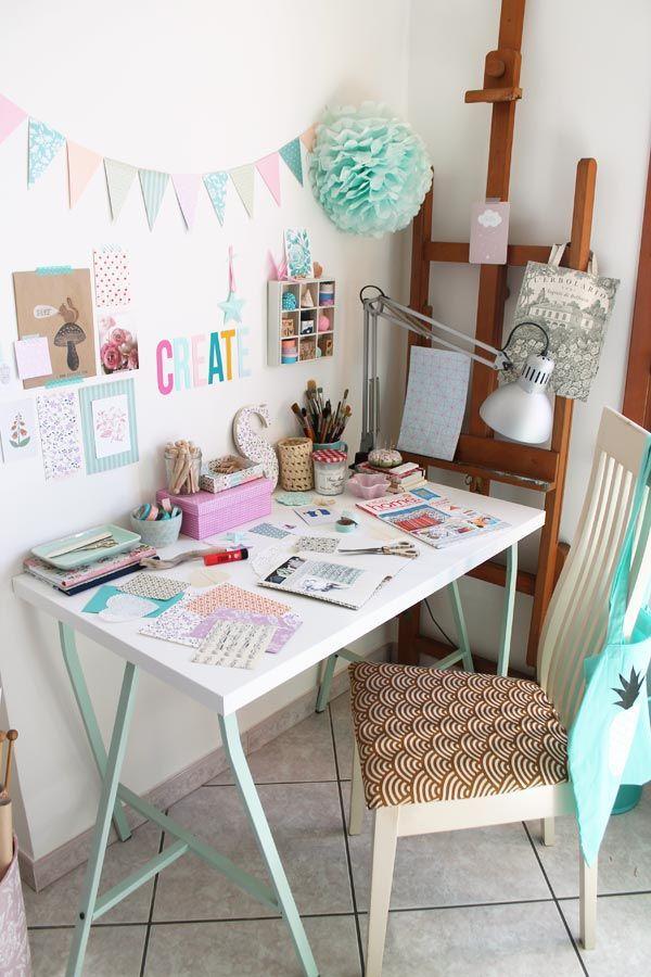 Pretty Pastel Craft Space