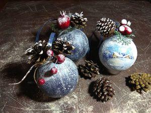 Производим декупаж шариков на ёлочку. Простой и красивый декор новогодних шариков. Ярмарка Мастеров - ручная работа, handmade.