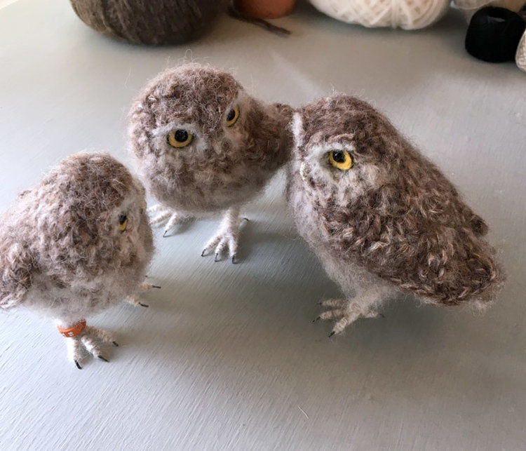 Вот-вот взлетят: реалистичные вязаные птицы Jose Heroys, фото № 12