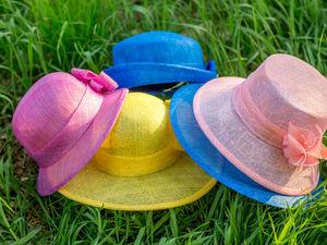 Летняя шляпка из соломки синамей. | Ярмарка Мастеров - ручная работа, handmade
