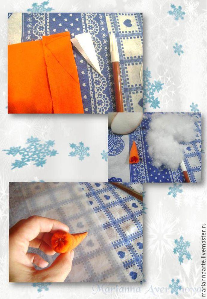 Мастер-класс по созданию забавной новогодней игрушки «Снеговичок-тюфячок», фото № 14
