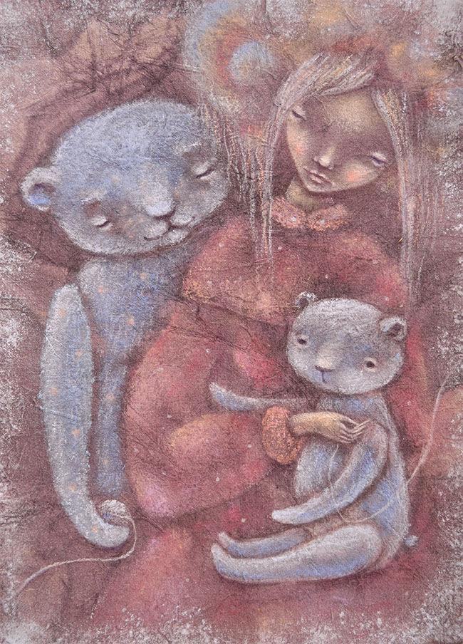 мишка тедди, теддисты, теддистам, медвежонок тедди, тедди, волшебство, волшебники, чудеса, сказки, картина для детской, девочка с мишкой