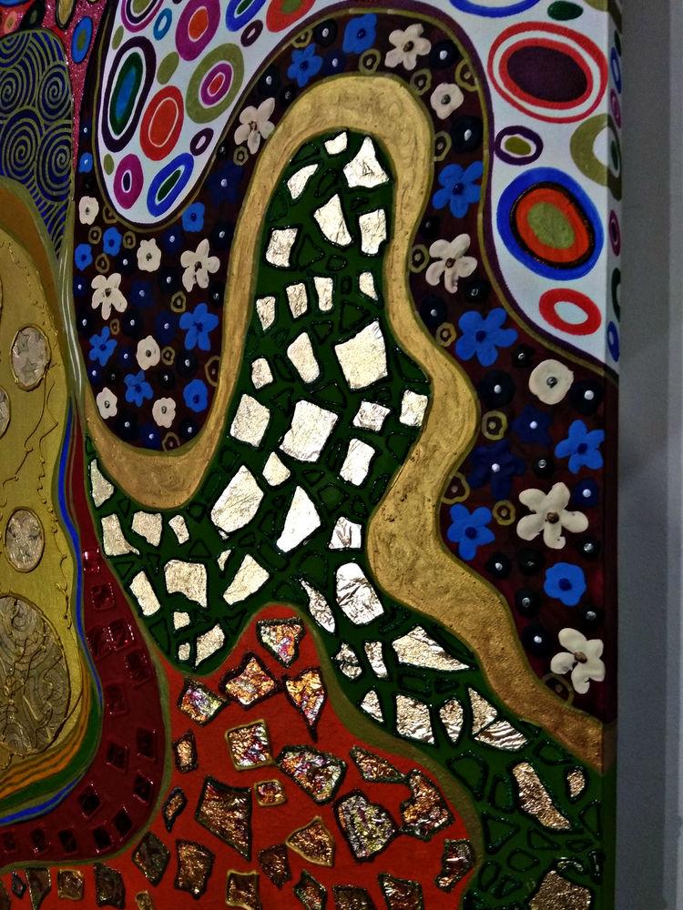 картина золотая климт