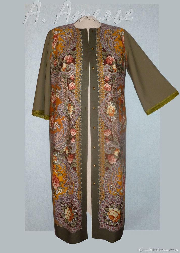 павлопосадский платок, платок в русском стиле, шитьё на заказ