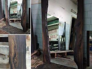 Зеркало в деревянной раме из мореного дуба. Ярмарка Мастеров - ручная работа, handmade.