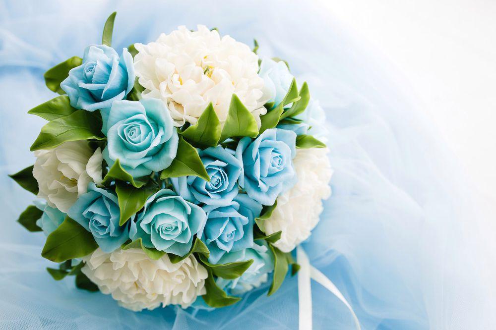 букет, голубой цвет