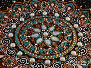 Точечная роспись декоративной тарелки . | Ярмарка Мастеров - ручная работа, handmade
