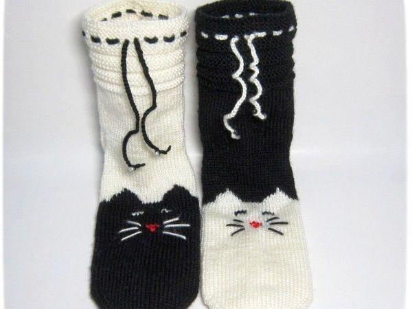 Как связать носки на двух спицах Уроки Рукоделия