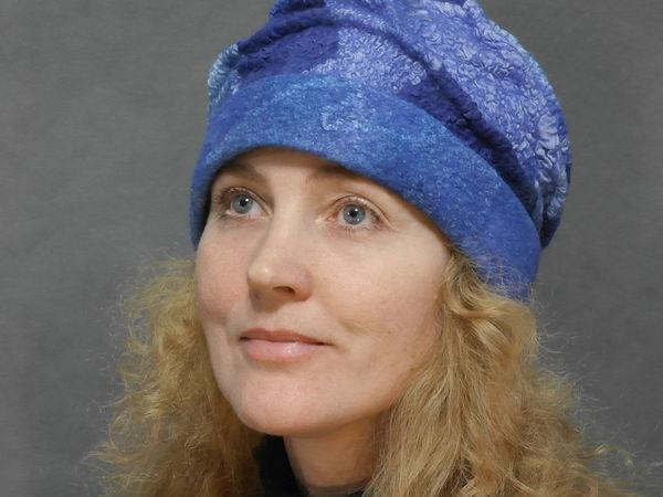 Валяная шапочка в лоскутной технике | Ярмарка Мастеров - ручная работа, handmade