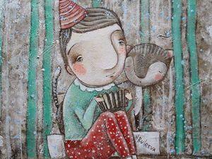 Аукцион на картину Я играю на гармошке. Ярмарка Мастеров - ручная работа, handmade.