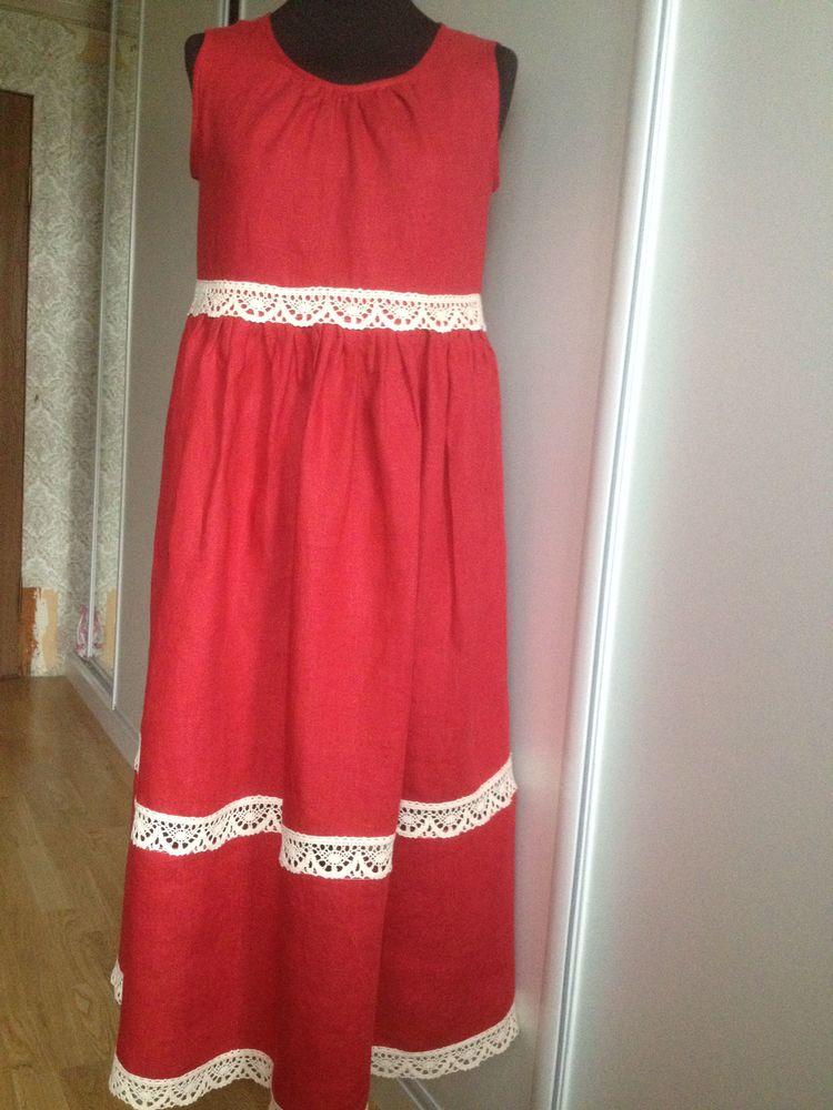 льняное платье, индивидуальный заказ