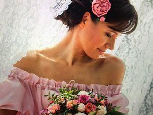 Вариации свадебного украшения в прическу невесты в моем исполнении.. Ярмарка Мастеров - ручная работа, handmade.