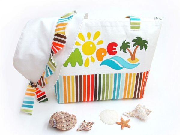 Sewing a Wonderful Beach Bag and Panama Set for Girls | Livemaster - handmade