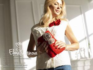 Авторский валяный комплект: жилет и сумочка-клатч с розами. Ярмарка Мастеров - ручная работа, handmade.