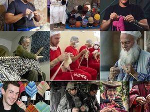 Мужчины вяжут. Ярмарка Мастеров - ручная работа, handmade.