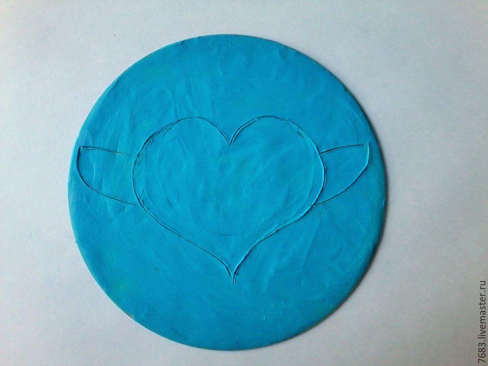 пластилиновое сердечко
