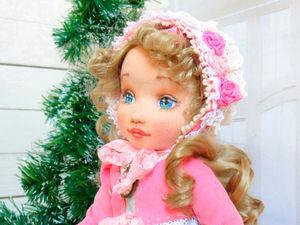 Делаем объемное личико текстильной кукле. Ярмарка Мастеров - ручная работа, handmade.