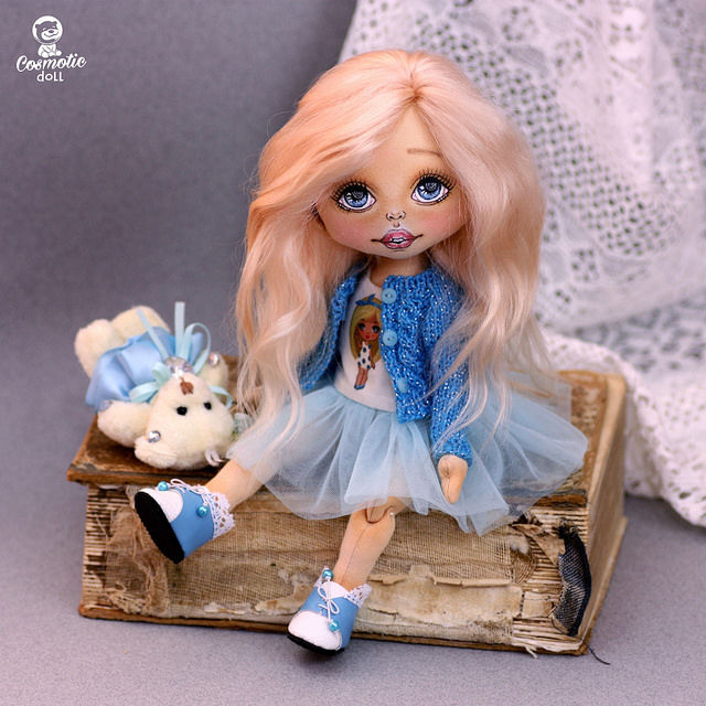 кукла, интерьерная кукла, кукла в одежде