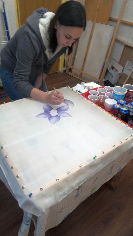 мастер-класс по батику, роспись ткани